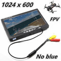 "NO blue 7"" LCD Color 1024*600 FPV Monitor Video Screen 7 inch Rc car Multicopter DJI Phantom ZMR250 QAV250 racing drone"