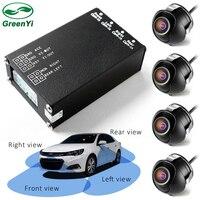 4 шт. камера заднего вида s 360 вид автомобиля камера управление коробка 4 пути камера s переключатель системы для задней левой правой Размер фр