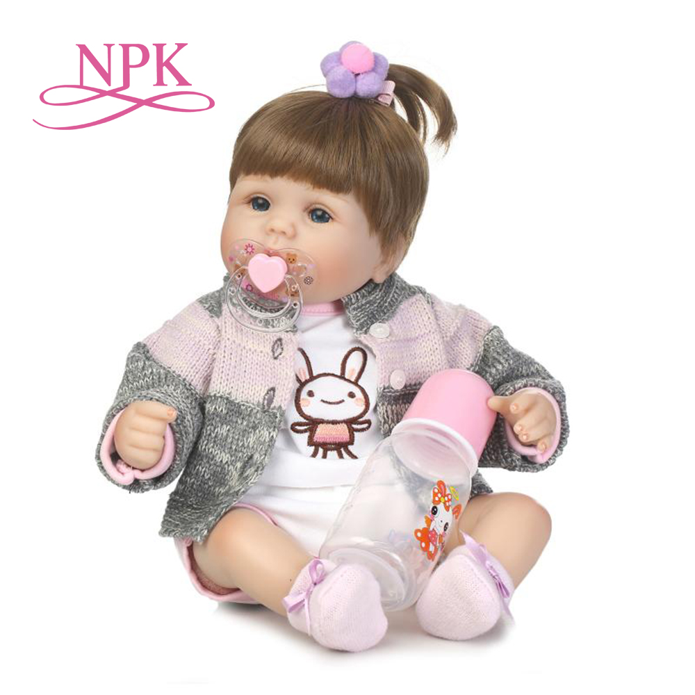 NPK 40cm Silicone reborn baby doll toys like real newborn princess girls babies reborn toy fashion