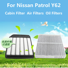 For Nissan Patrol Y62 2012-2019 Cabin Filter Air Filters Oil System Accessories