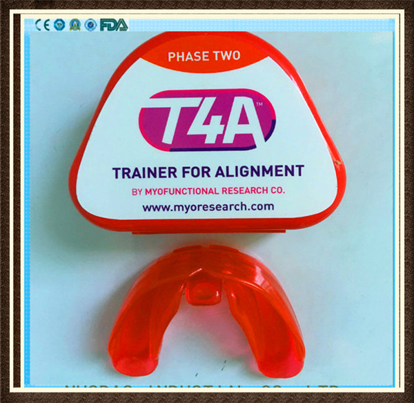 Original Myofunctional T4A T4A hard Red Teeth Orthodontic Trainer myofunctional infant orthodontic teeth trainer for kids girls