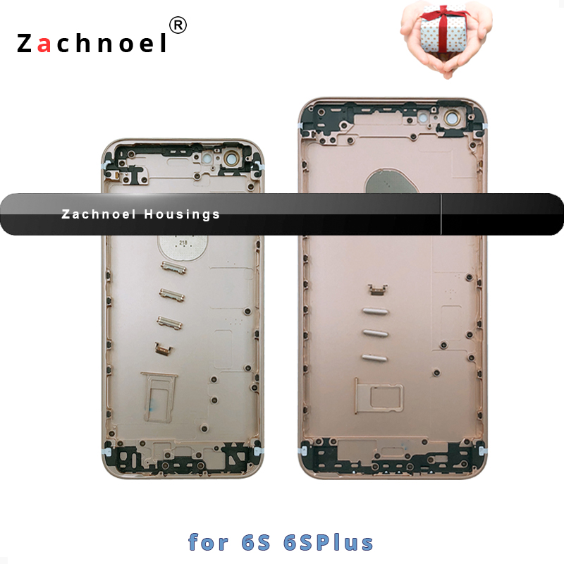Zurück Gehäuse für iPhone 6 s 6 sPlus Plus Batterie Tür Abdeckung Fall Mittleren Rahmen Chassis Körper Ersatz Gold Schwarz silber Kostenloser IMEI