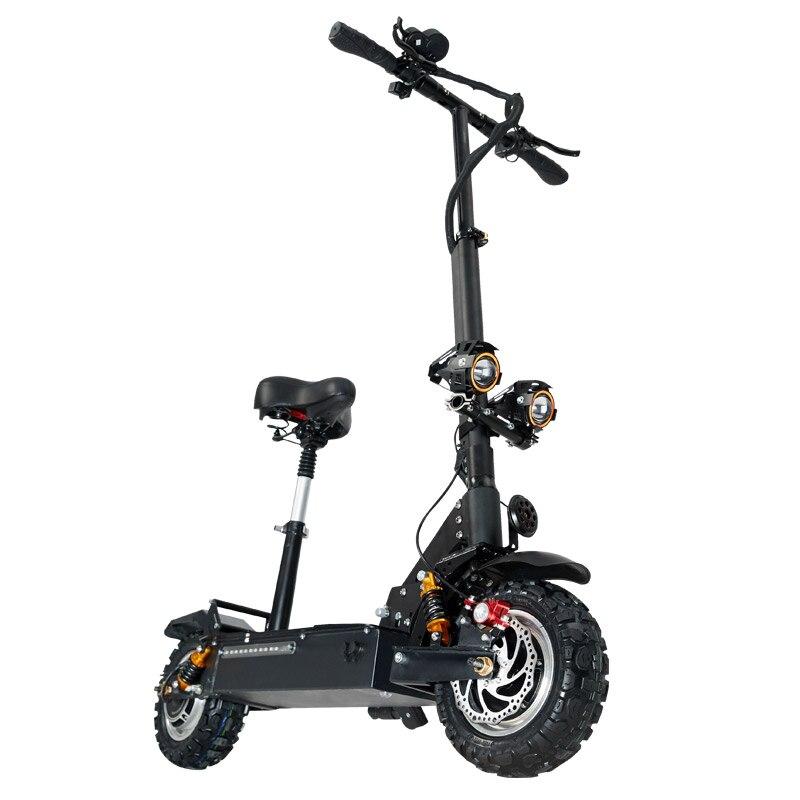 Janobike scooter électrique double entraînement avec siège 60 V/3200 W adulte rapide pliant scooter 11 pouces route pneu électrique ville scooter