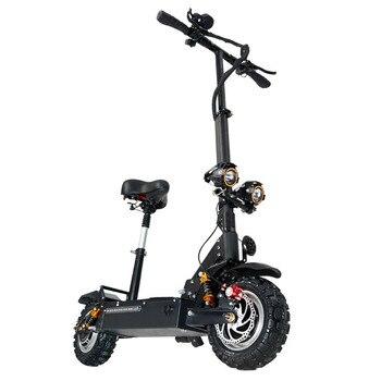 Janobike Scooter Elettrico Doppio Drive Con Sedile 60 V/3200 W Per Adulti Veloce Scooter Pieghevole 11 Pollici Pneumatico Stradale Electric City Scooter