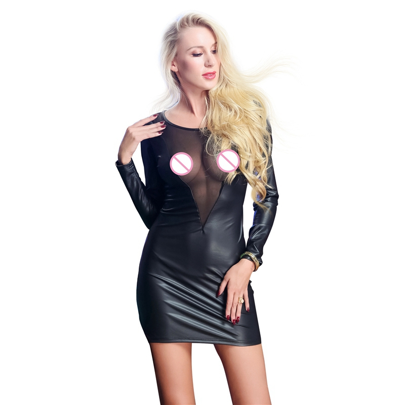 pu leather dress (8)