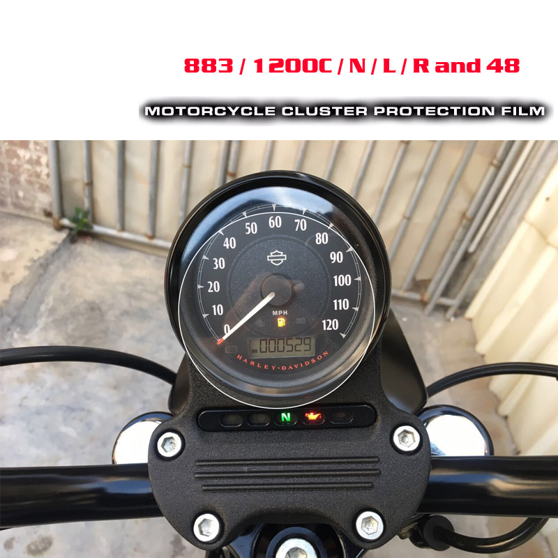 For Harley Sportster 1200 <font><b>883</b></font> <font><b>Iron</b></font> <font><b>883</b></font> Motorcycle Cluster Scratch Protection Film Screen Protector image