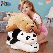 We Bare Bears Panda Teddy Bear Plush Toy Triver Stuffed Dolls Pillow Cushion Baby Kids Children Gift Appease Doll Drop Shipping цена и фото