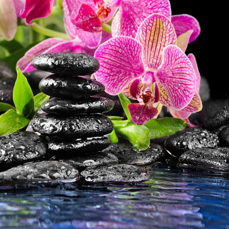 100% DIY 5D kerek gyémánt mozaik orchidea virágok kő gyémánt - Művészet, kézművesség és varrás
