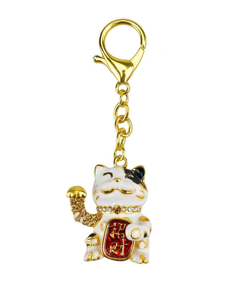 2017 Nieuwe Feng Shui Lucky Cat Sleutelhanger W Fengshuisale Rode - Huisdecoratie