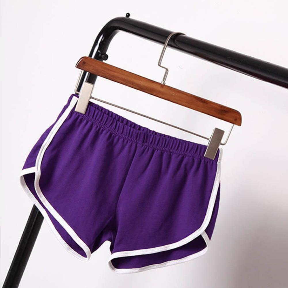 Women Elastic Waist Short All-match Loose Solid Soft Cotton Casual Short 25