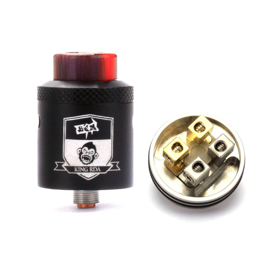 King RDA Atomizer Vaporizer vape Tank 24mm Diameter 510 Thread Adjustable Airflow Tank For Electronic Cigarette Box Mod 528 RDAKing RDA Atomizer Vaporizer vape Tank 24mm Diameter 510 Thread Adjustable Airflow Tank For Electronic Cigarette Box Mod 528 RDA
