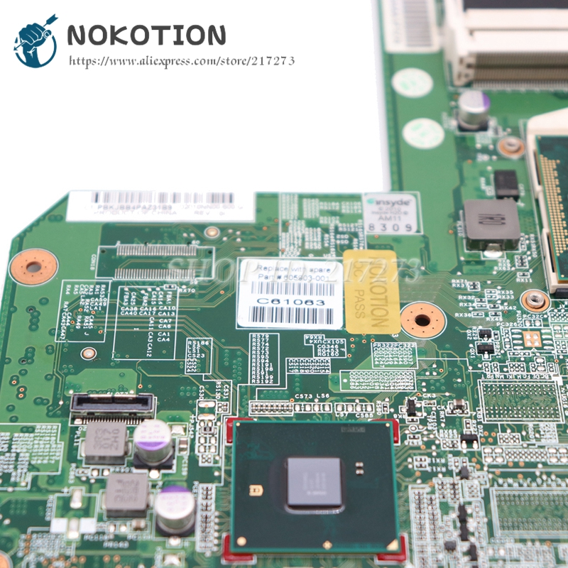 Image 4 - NOKOTION 615849 001 605903 001 Laptop Motherboard For HP G62 G72 CQ62 HM55 UMA DDR3 MAIN BOARD Free CPU-in Laptop Motherboard from Computer & Office on