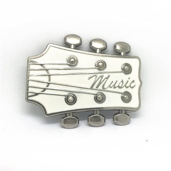 Western buckle white guitar ancient silver alloy plating process wear-resisting male general belt buckle for 4 ms.0 belt