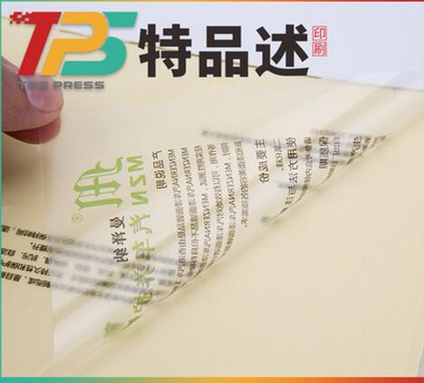 Autocollants adhésifs de code barres d'animal familier/PVC blancs argentés imperméables, étiquette brillante de polyester de transfert thermique pour l'étiquette d'imprimante