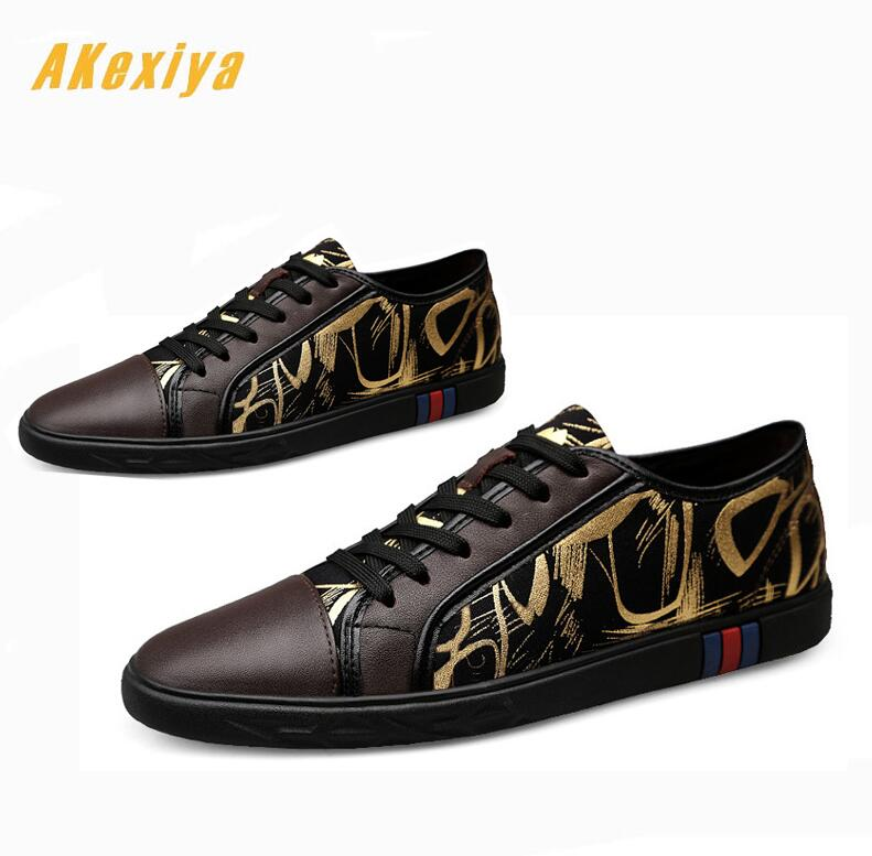 Men's Shoes New Spring Men Street Graffiti Printing Comfortable Casual Flats Shoes Male Dress Prom Hip-hop Skateboard Shoes Zapatos Hombre
