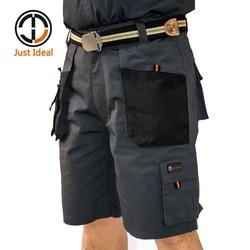 Mens Canvas Shorts Military tactical Short Working Shorts Multiple Pockets Hard Wearing Short European Size Summer Bermuda ID604