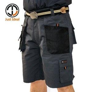Image 1 - 남성 캔버스 반바지 군사 전술 짧은 작업 반바지 여러 포켓 하드 입고 짧은 유럽 크기 여름 버뮤다 id604