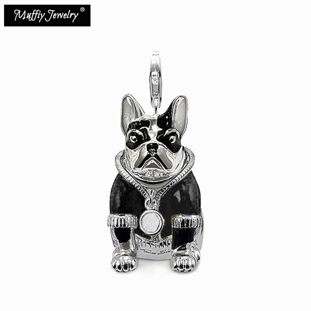 Black Bulldog Dog Pendant,Thomas Style Muffiy Rebel Good Jewelry For Men And Women,Ts Gift In 925 Sterling Silver