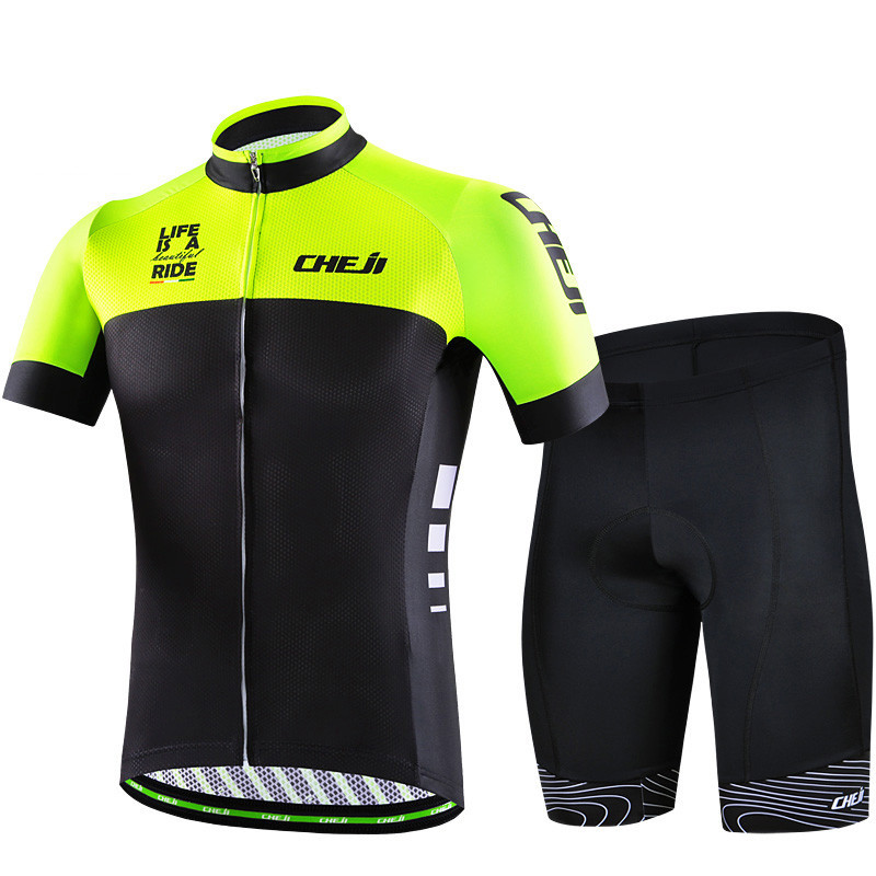 Cheji 2016 Cycling Bike Jersey Racing Sport Pro Team Cycling Clothing Ropa Ciclismo Short Sleeve mtb Bicycle Sportswear Maillot  cheji team mens bike clothing set ropa ciclismo mtb bike bicycle cycling long sleeve jersey