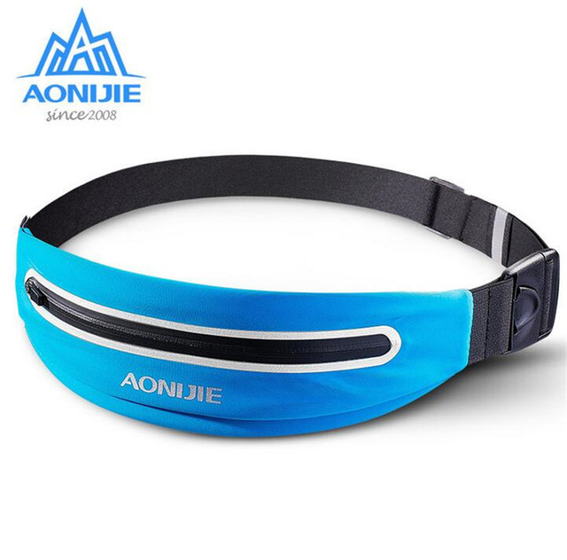 AONIJIE Men Women Outdoor Lightweight Sport Waist Belt Bag Women Men Yoga Fitness Cycling Marathon Running Pack