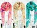 Детская женщин звезда шарф саронги хиджабах банданы шали обруча пончо 160 * 50 см смешанный цвет 18 шт./лот # 3358
