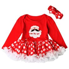 Christmas Style Baby Girls Lovely Dress Long Sleeve Princess Girls Ball Gown Dresses Cute Autumn Winter Kids Clothes