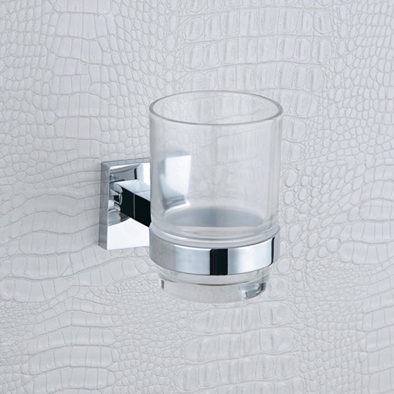 Toothbrush Holder Elegance Chrome Single Tumbler Holder with Wall Mounted ,304 Stainless Steel and Copper Bathroom Accessories free shipping sus304 stainless steel wall mounted single cup holder glass tumbler holder for toothbrushes bathroom accessories
