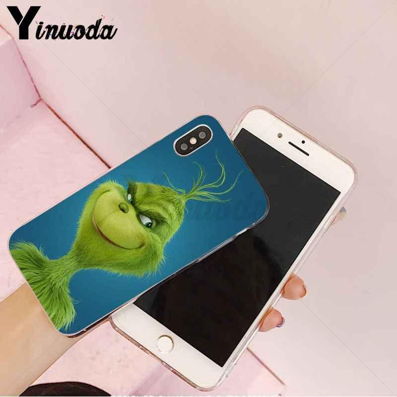 Yinuoda How the Green ofMonster Grinch украли Рождество Мягкий Силиконовый ТПУ чехол для телефона iPhone8 7 6 6S Plus 5 5S SE XR X XS MAX