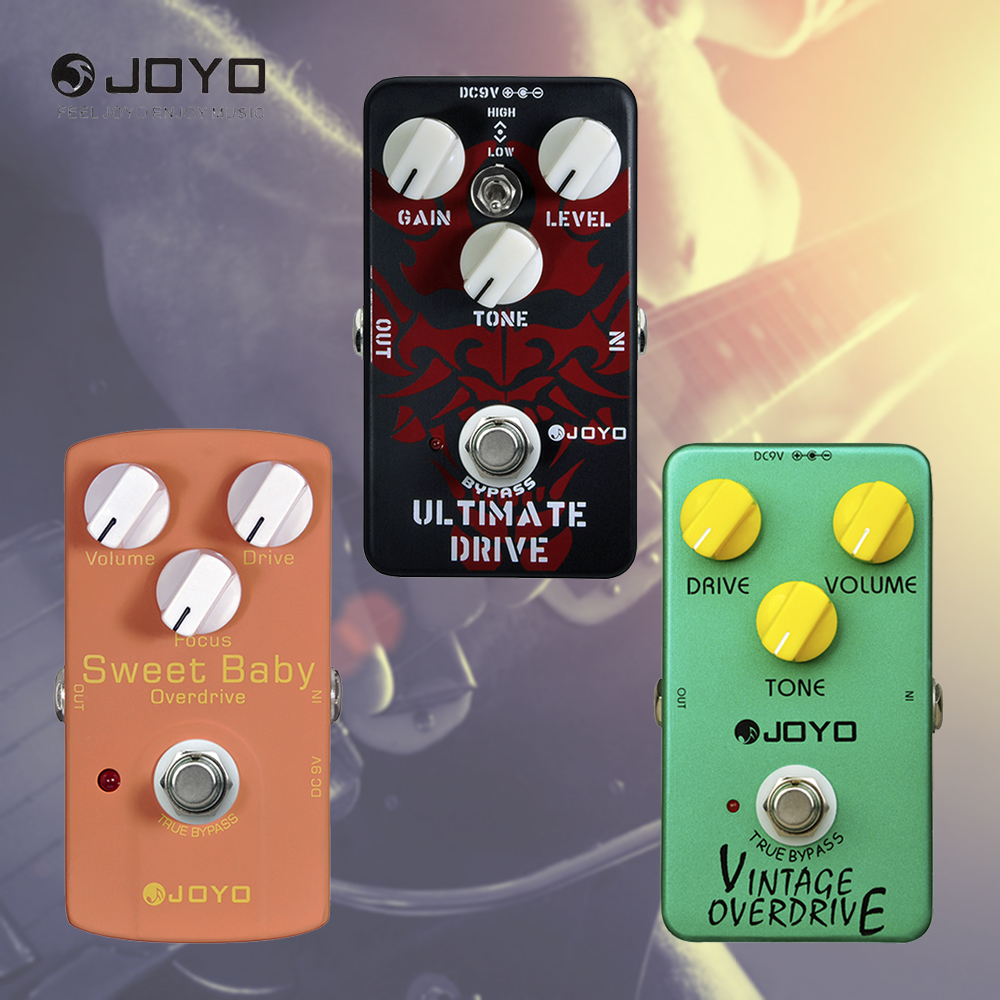 JOYO High Gain Ultimate Drive Overdrive Guitar Effects Pedal Vintage Overdrive Tube Stompbox True Bypass and Power Supply