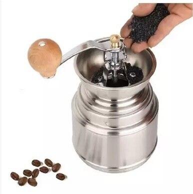 FeiC 1 pc ze stali nierdzewnej ręczny młynek do Rdzeń ceramiczny ziaren kawy szlifierka młyn regulowana grubość stopni nadający się do prania