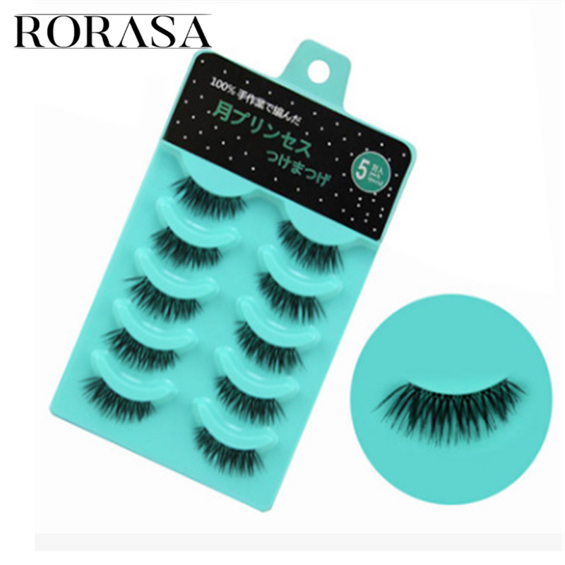 5 Pairs Professional Ultra-thin Long Magnetic Eye Lashes Makeup Black 3D Reusable False Magnet Eyelashes