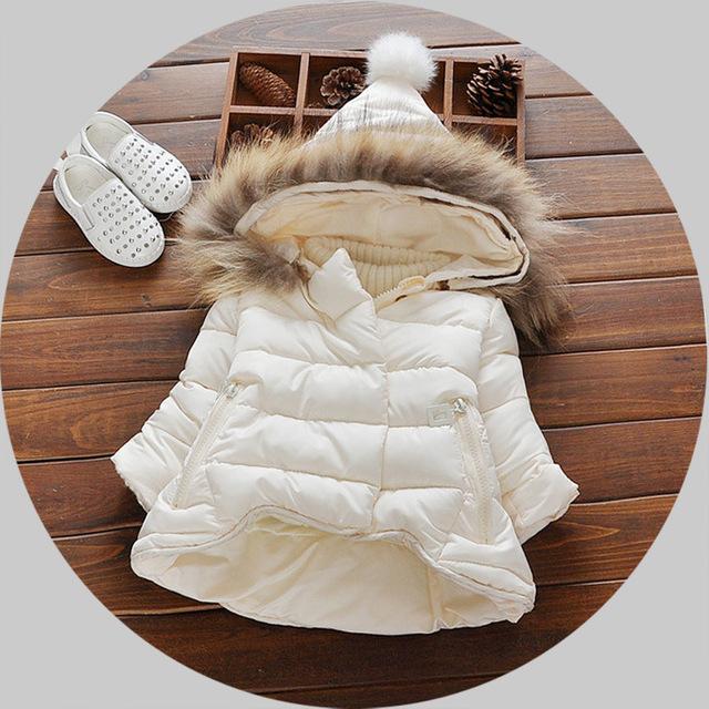 2017 Jaquetas meninas outono e inverno 0-1-3 year-old crianças mais grossos casacos de algodão das Crianças roupas Cor de Rosa