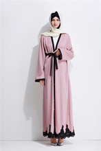 Adulto Beading cardigan moda dubai abaya Árabe Muçulmano islâmico vestido tamanho grande roupas serviço de oração wj754 frete grátis