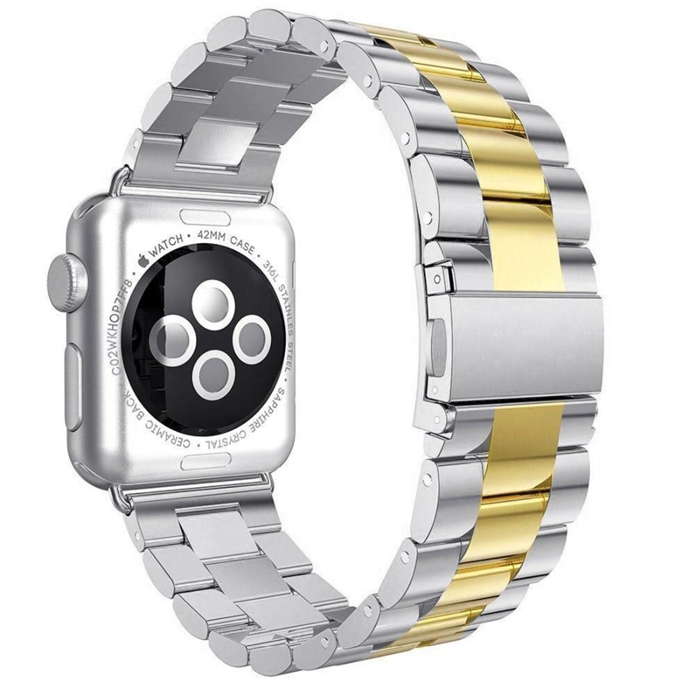 CRESTED edelstahl strap Für Apple uhr band 44mm 42mm correa iwatch serie 4/3/2 /1 40mm/38mm link armband handgelenk gürtel