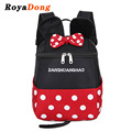 RoyaDong 2017 Children School Backpack Nylon School Bag For Boys Girls Dot Bow Mouse Book Bag