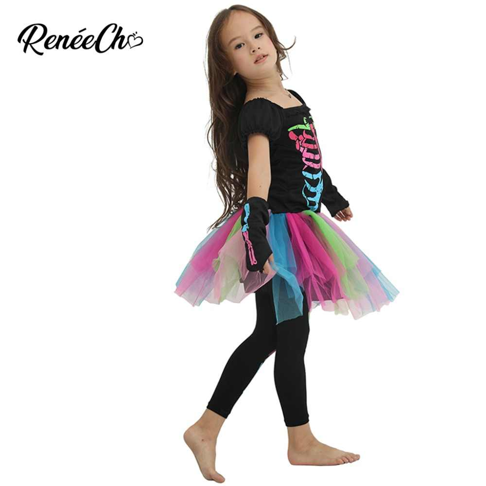 1bdb568e513e7 ... family costumes halloween mother and daughter carnival costume girl  skeleton cosplay tutu dress women Funky Punky ...