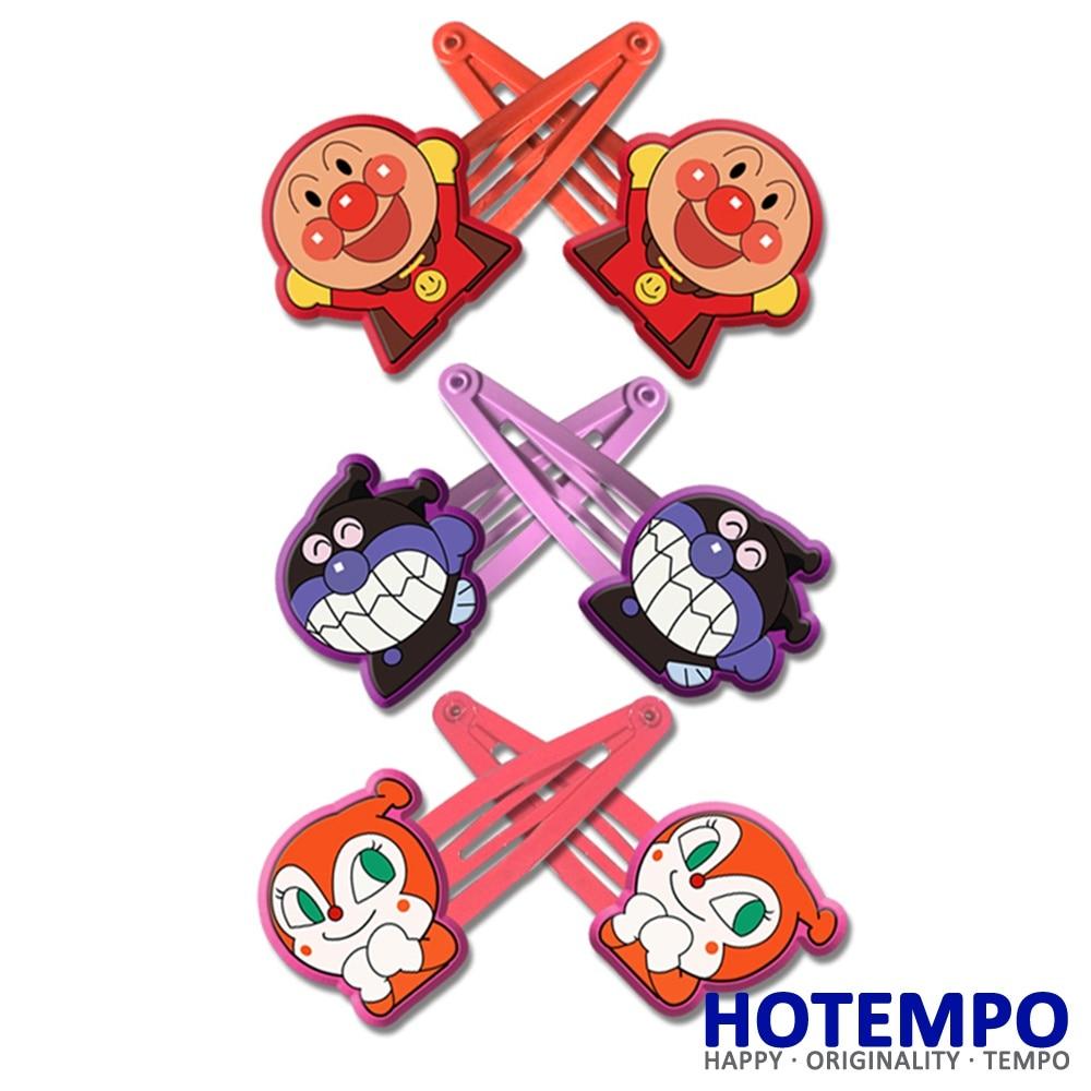 HOTEMPO Japan Cute Cartoon Superman Anpanman Dokin-chan Baikinman  For BB Girls Hair Accessories Gift Hair Pins