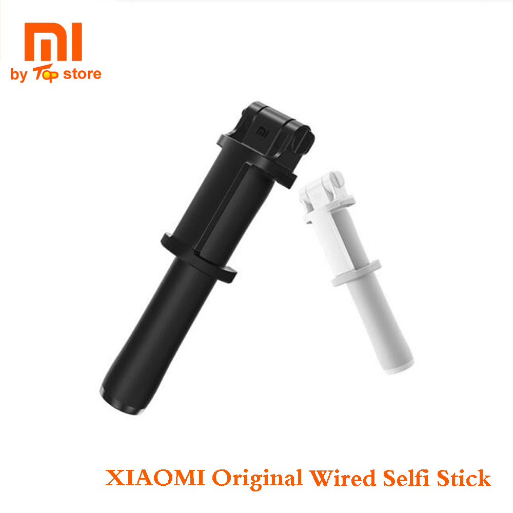 Original Xiao mi Xio mi extensible Selfiestick Handheld con cable Monopod Selfie Stick para IOS SmartPhone Android Pau de Selfie