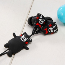 SiciLY Cartoon styles Kumamon Super bass clear voice earphone Headset Mobile Computer MP3 Universal earphone with retail package