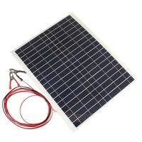 Amzdeal Kit DIY Dobrável Ao Ar Livre Portátil 20 W 12 V Carregador Solar Painel Eletrônico Elemento de Campismo Células Solares de Carregamento Do Telefone