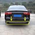 Для Audi A6 C7 Нержавеющей Задний Бампер Молдинг Крышки Отделка 2012-2015 1 шт.