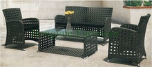 Patio outdoor wicker perforated sofa set outdoor furniture designs