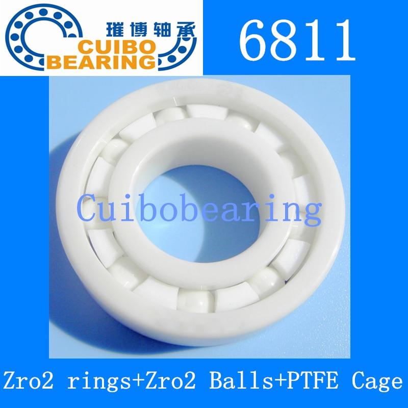 6811 Full Ceramic ZrO2 55x72x9 61811 ZrO2 Ceramic Ball Bearing 6811CE ceramic wheel hub bearing zro2 15267 15 26 7mm 15267 full zro2 ceramic bearing