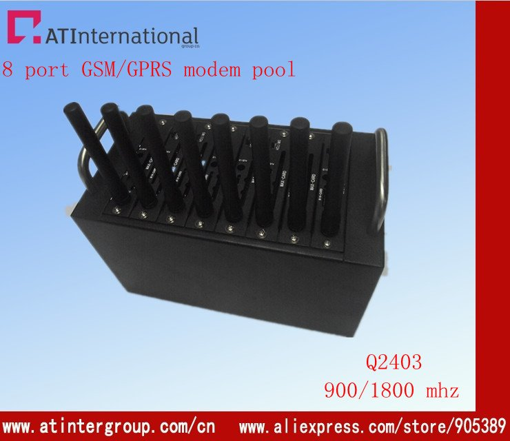 USB GSM 8 ports sms modem Q2303