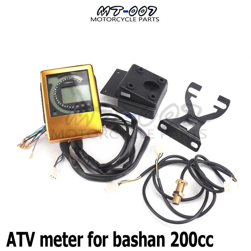 Motorcycle ATV meter For Bashan 200 200cc ATV meter odometer tachometer gear table Dirt Bike