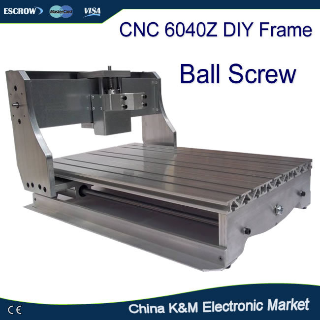 CNC 6040Z DIY machine frame for 6040 engraving machine router lathe with ball screw