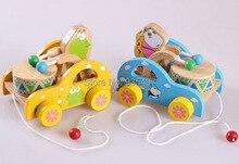 Купить с кэшбэком Baby toddler toy of tractor ,Baby toys Tow rope 2015