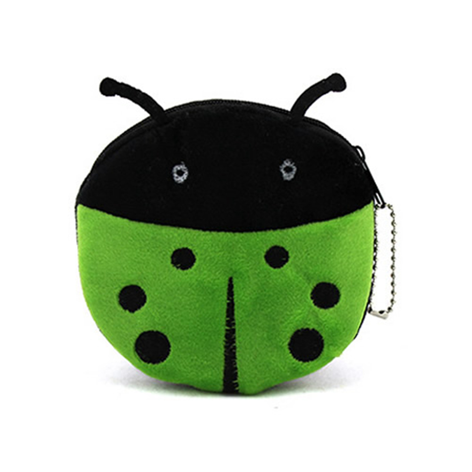Kawaii Cartoon Animal Beetles Coin Purse Children Plush Purse Bag Zipper Change Purse Wallet Kids Girl Women For Gift 2015 new arrival kids rabbit animal pattern wallet children baby purse women girl coin bag key pouch for birthday gift