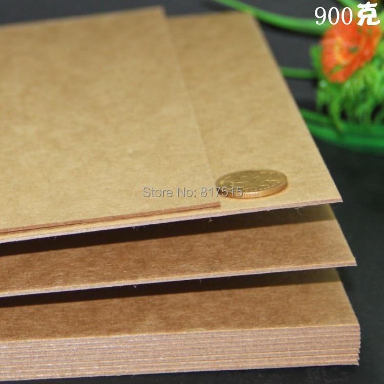 900g Brown Kraft Paper 13mm A4 Imported Craft Paperboard DIY Album Page Greeting Cardboard