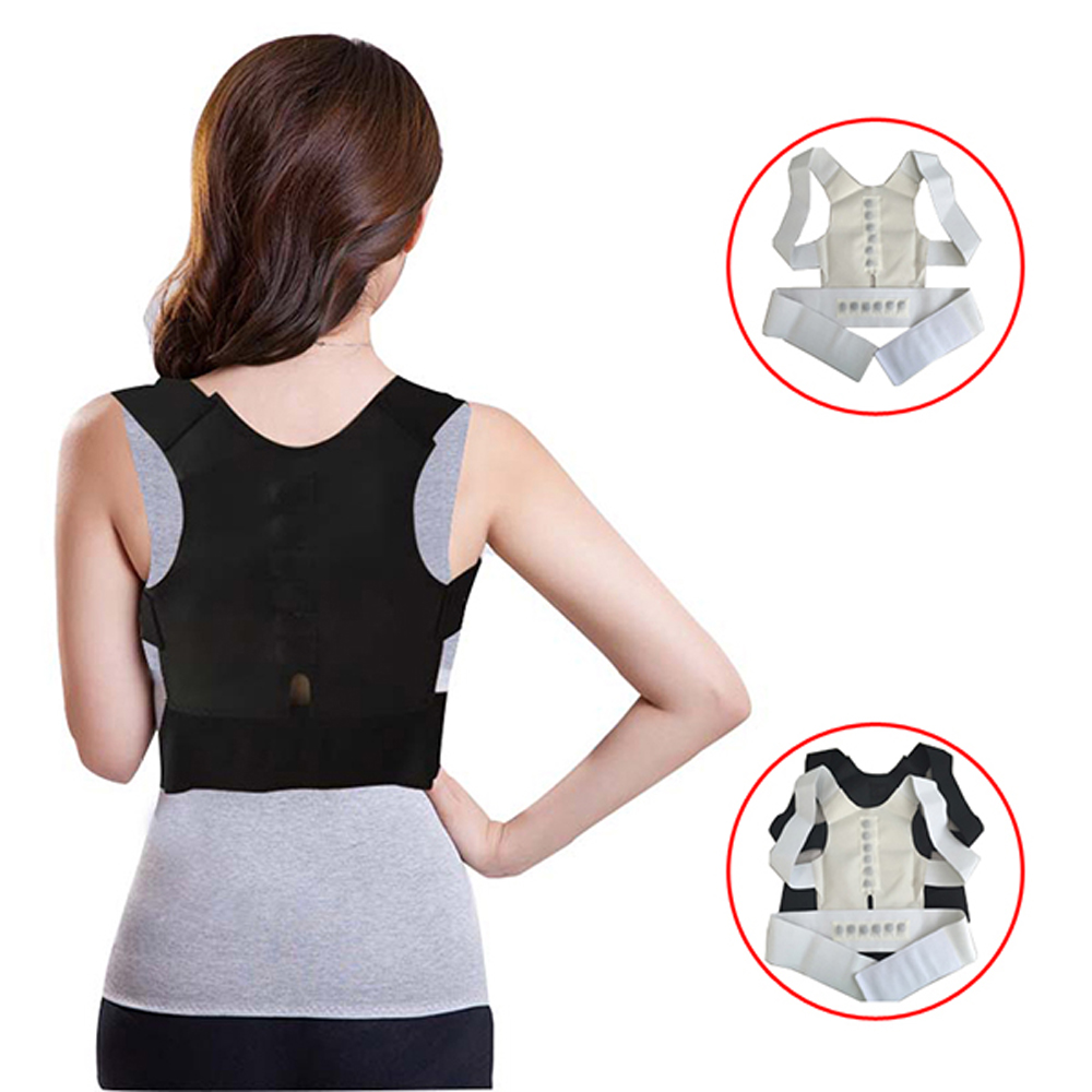 Delicate Men Women Magnetic Posture Support Corrector Back Belt Band Pain Feel Young Belt Brace Shoulder for Sport Safety Brand